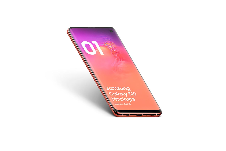 Samsung Galaxy S10 - 21 Mockups - 5K - PSD example image 16