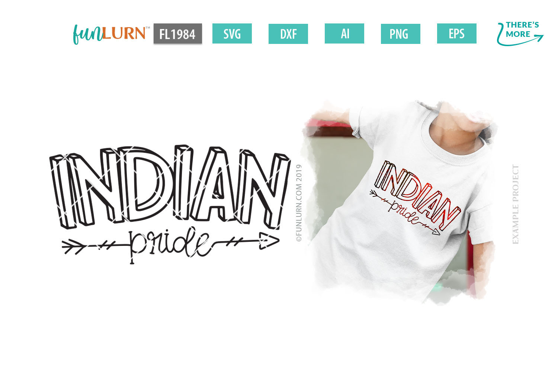 Indian Pride Team SVG Cut File example image 1