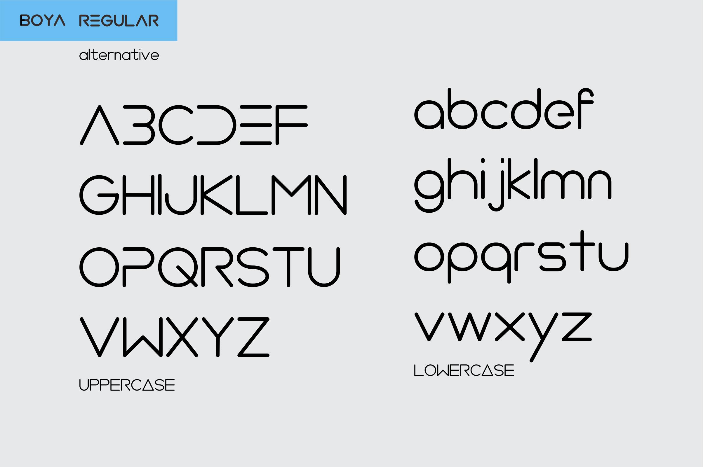 BOYA (rounded Font) example image 7