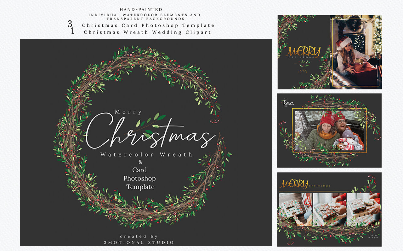 Christmas Photo Card Template example image 6
