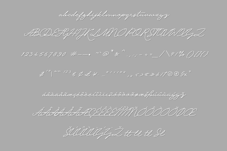 Krakatau Monoline Signature Font example image 5