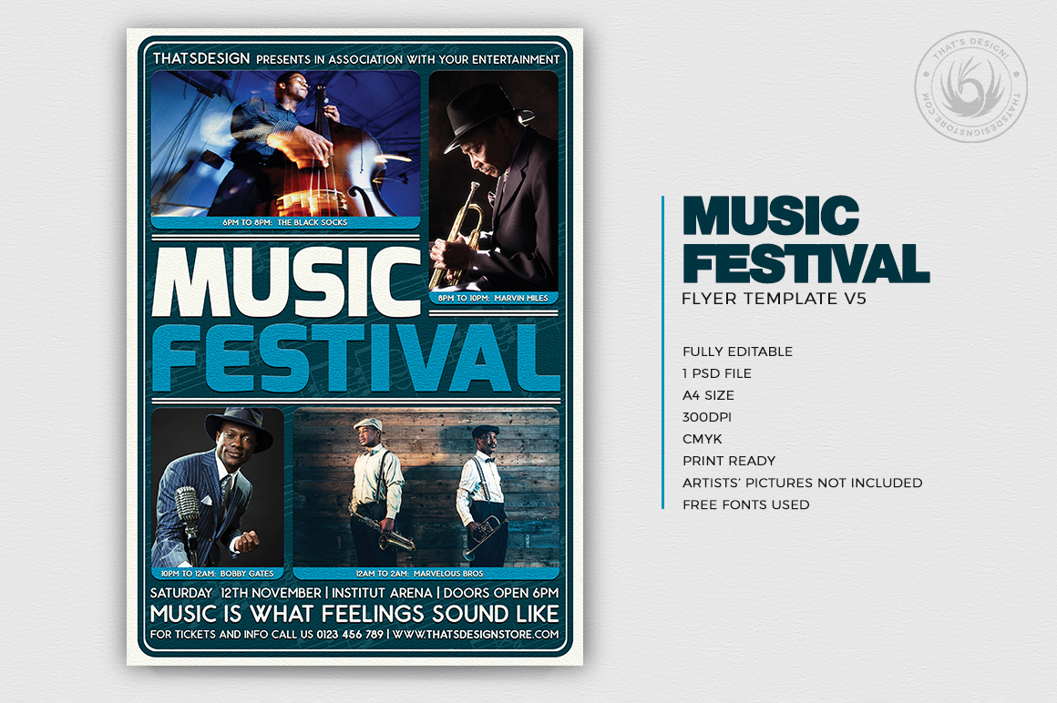 Music Festival Flyer Template V5 example image 2
