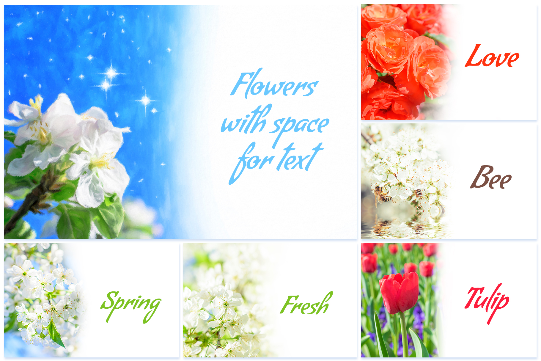 Spring Flowers and Paintings Bundle example image 8