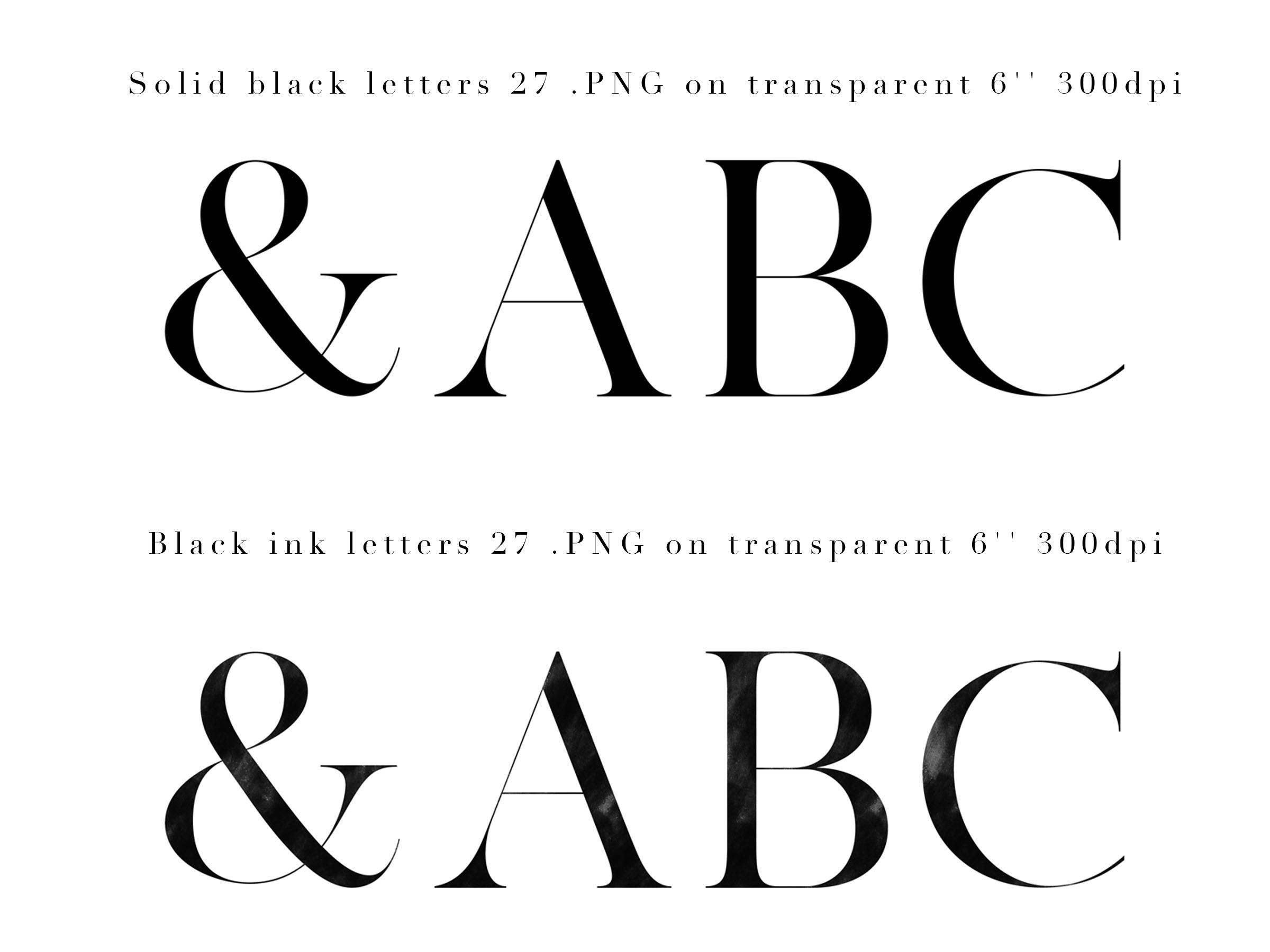 Floral Design Bundle - Monogram Letters Clipart example image 8