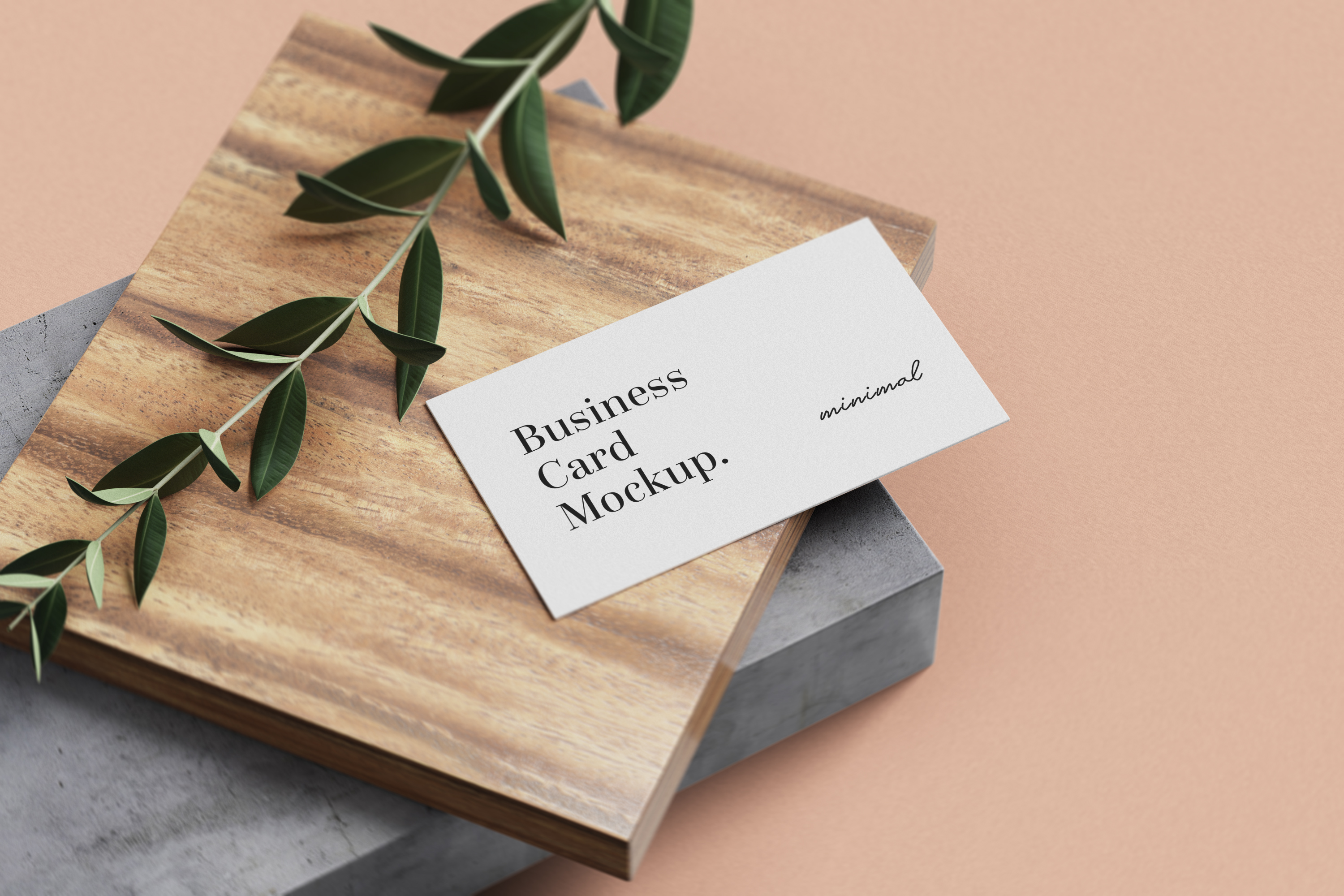 Modern Business Card Mockup example image 2