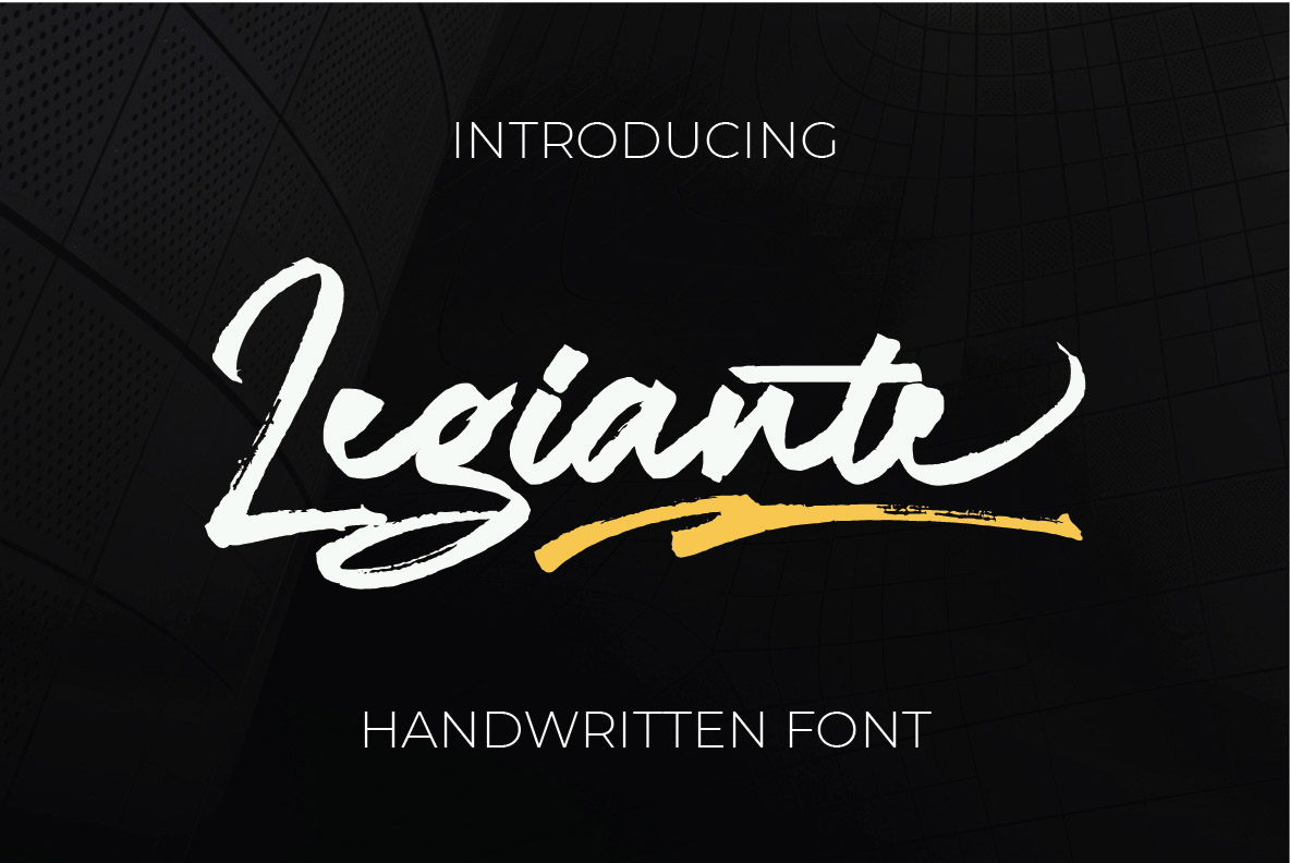 Legiante | Handwritten Fonts example image 1