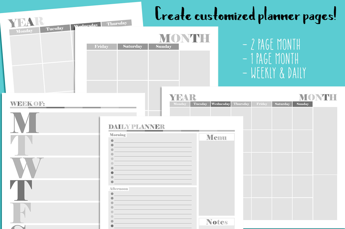 Customizable Planner Templates example image 3
