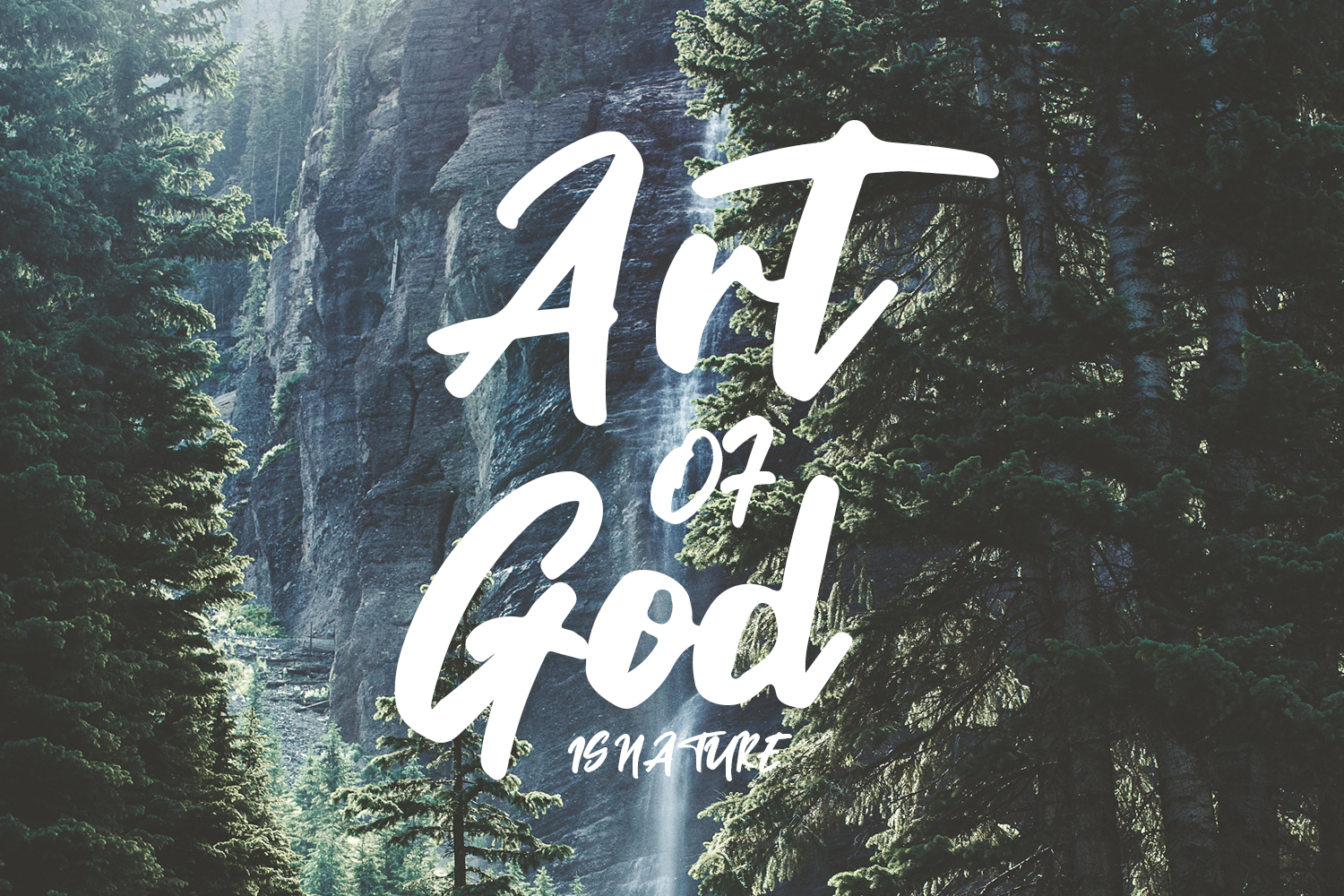 Ministry Brush Font example image 2