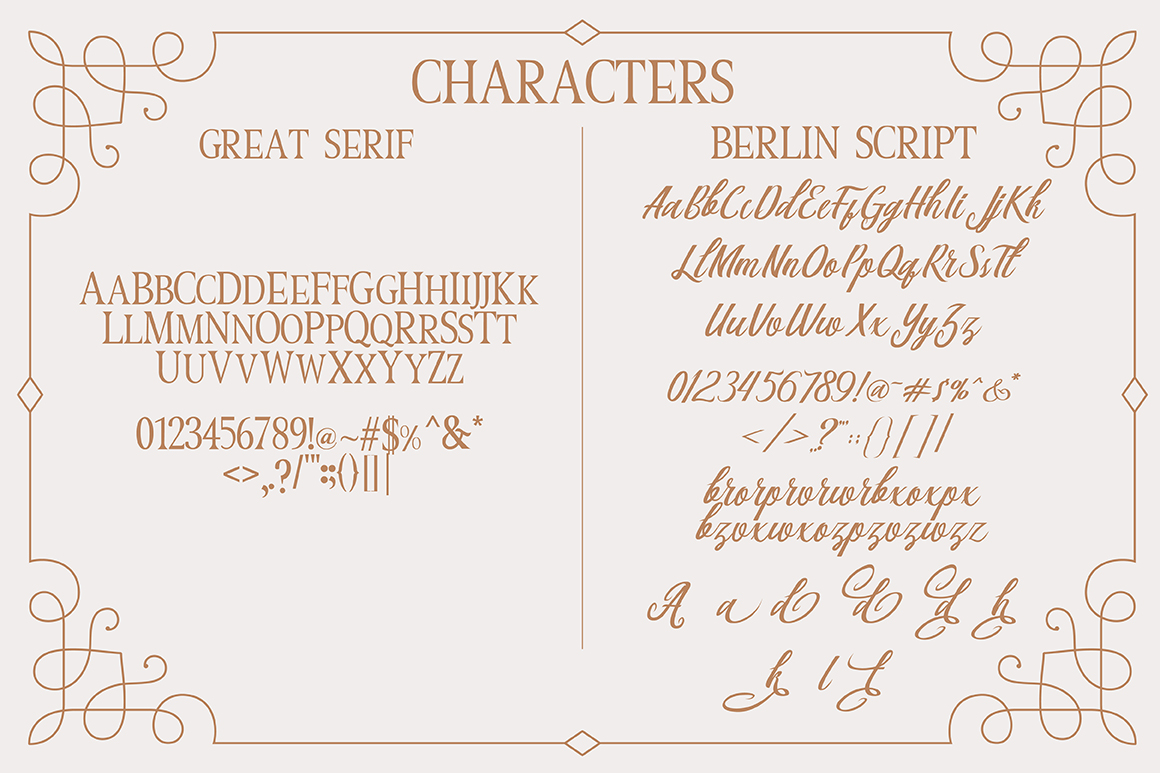 Berlin Script + Great Serif example image 9
