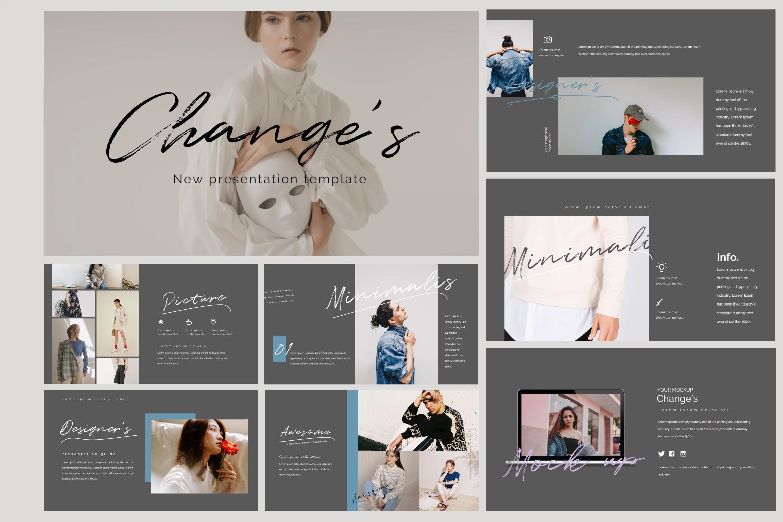 Change's - Fashion Powerpoint Dark example image 1