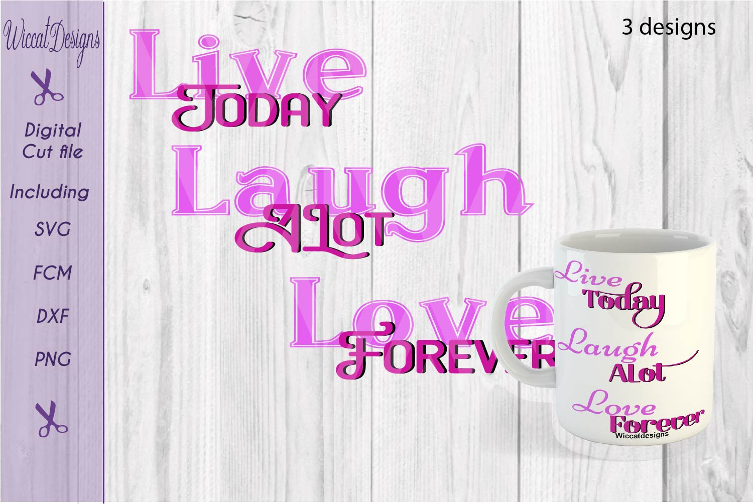 Svg Quote, live today svg, Inspirational svg, mug svg,  example image 1