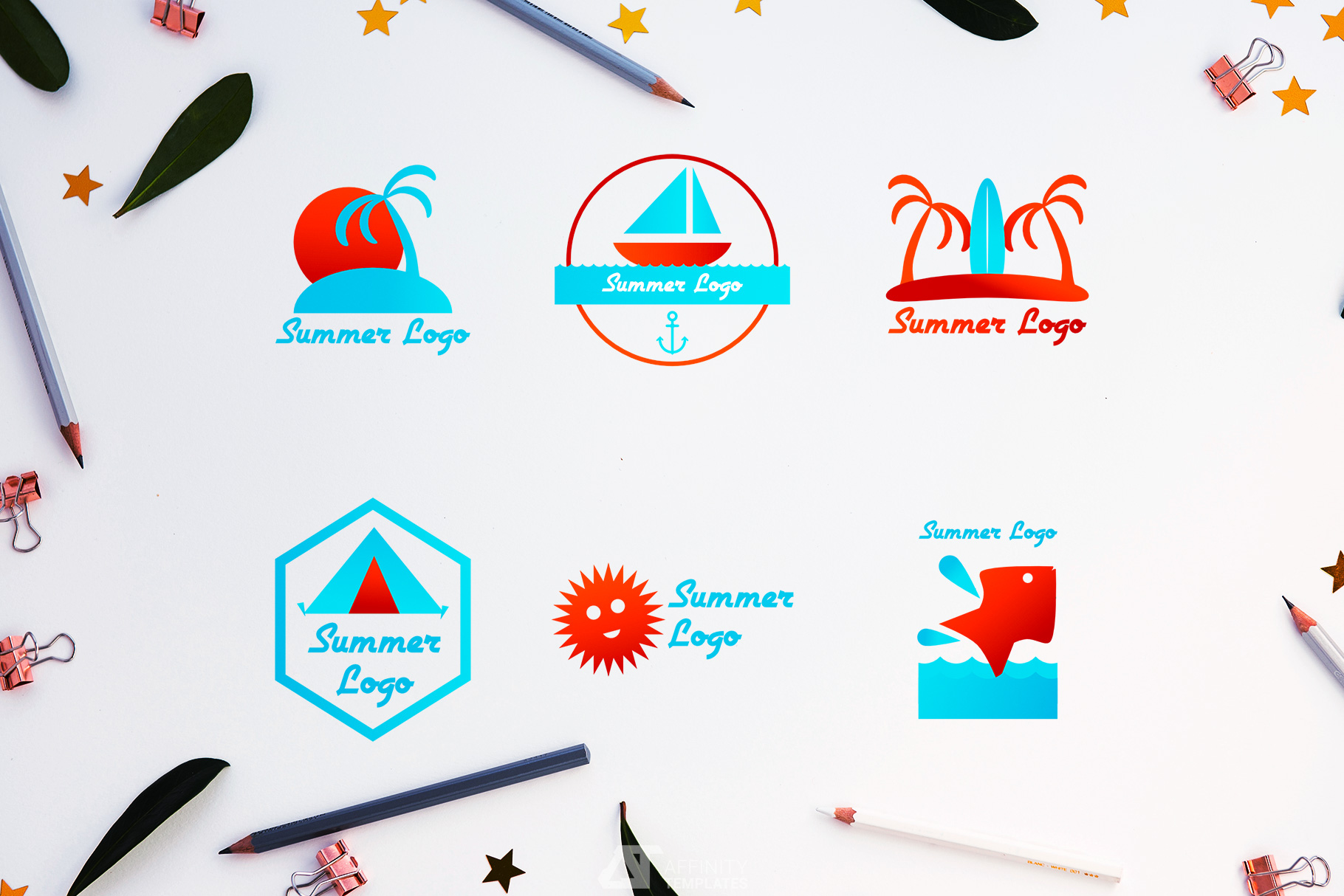 Summer Camp Logo Download example image 1