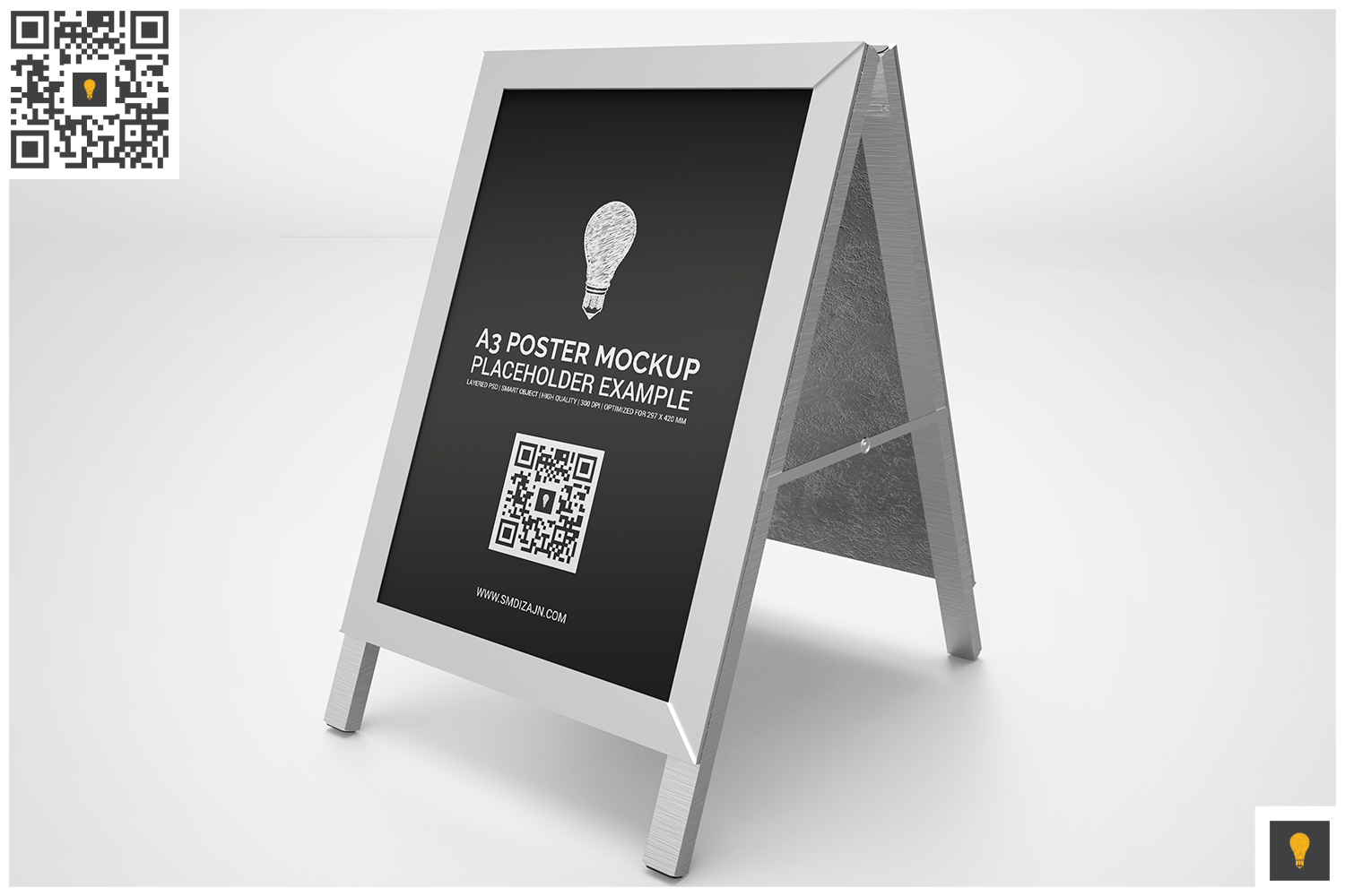 Poster Stand Display Mockup example image 4