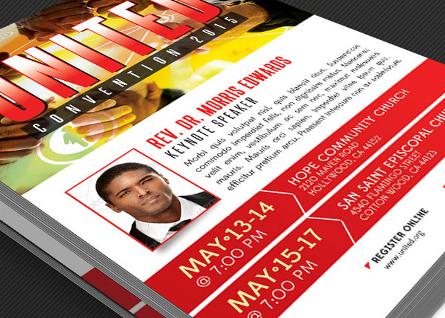 Church Convention Flyer Template example image 2