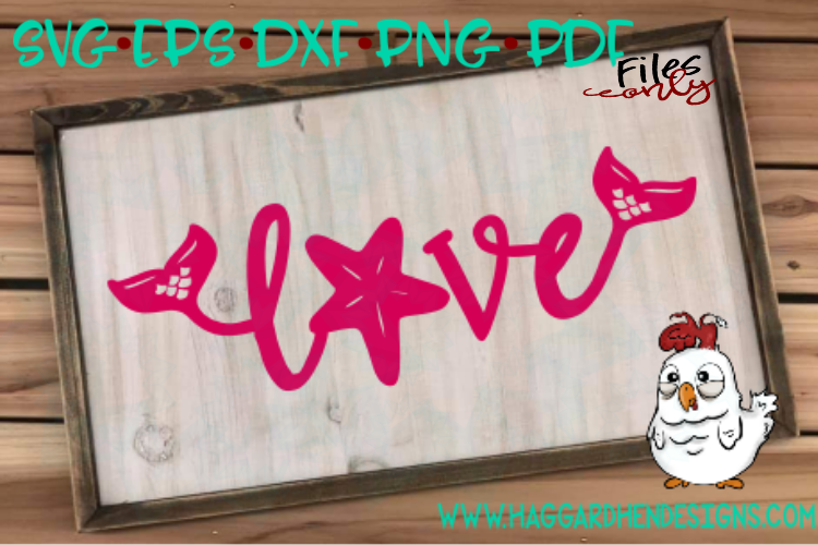 Love Word--Mermaid Theme SVG example image 2