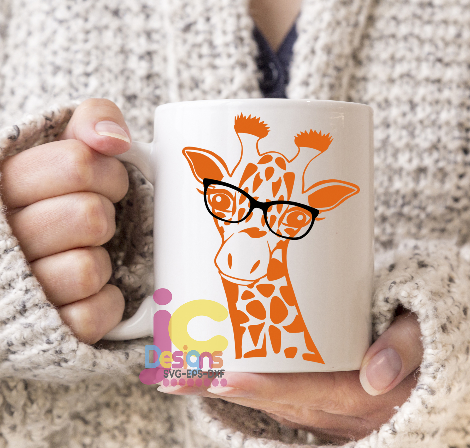 Giraffe in glasses svg, Cute Funny Kids Mother svg clip art example image 2