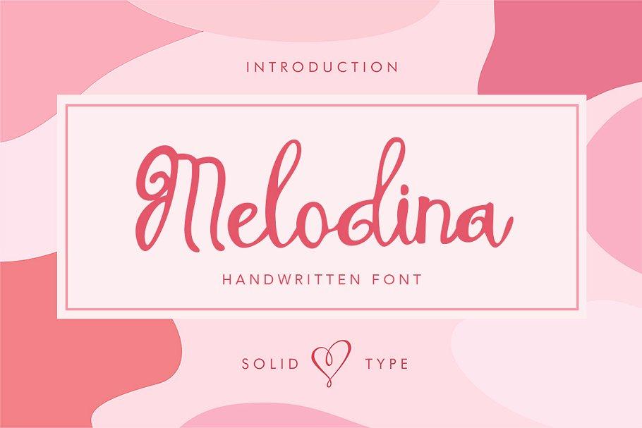 Melodina Script example image 1