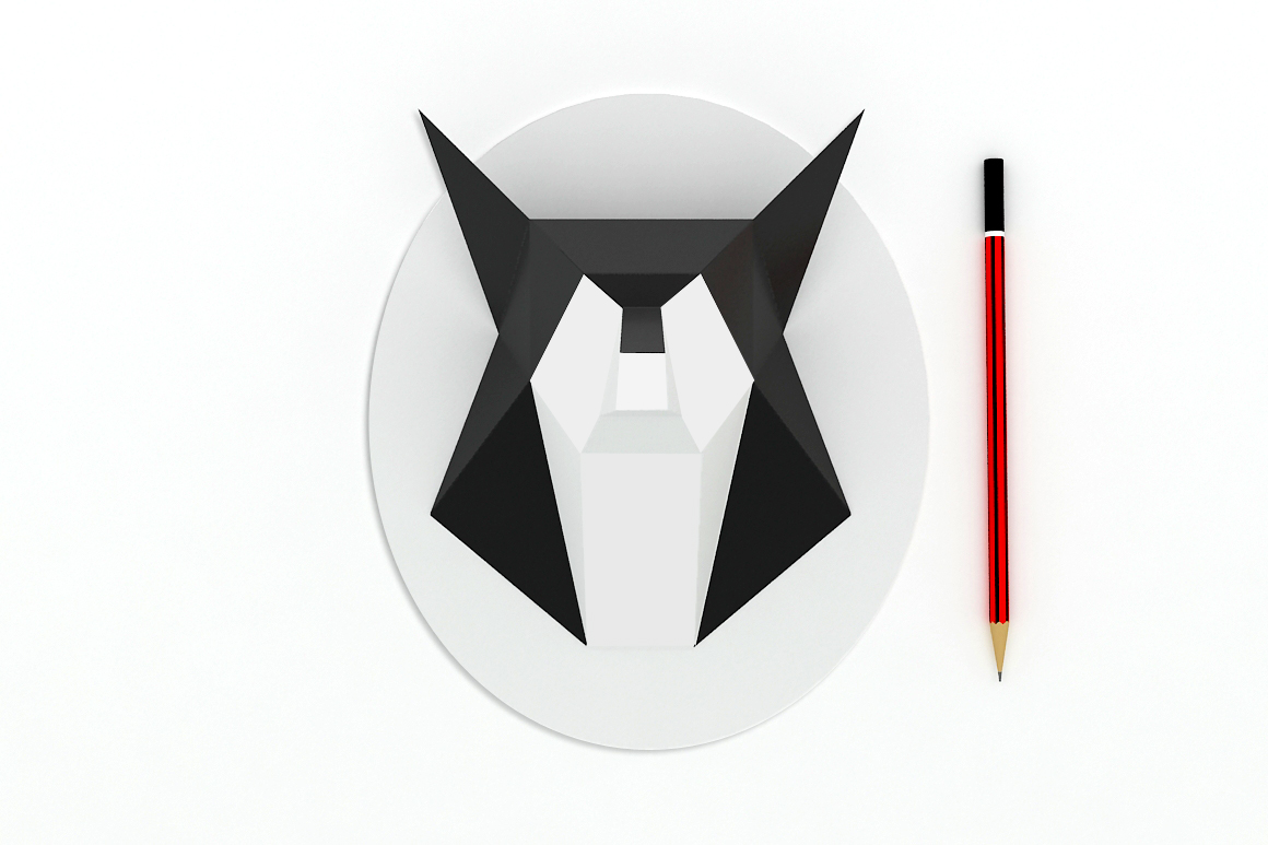 DIY Fox head trophy - 3d papercraft example image 3