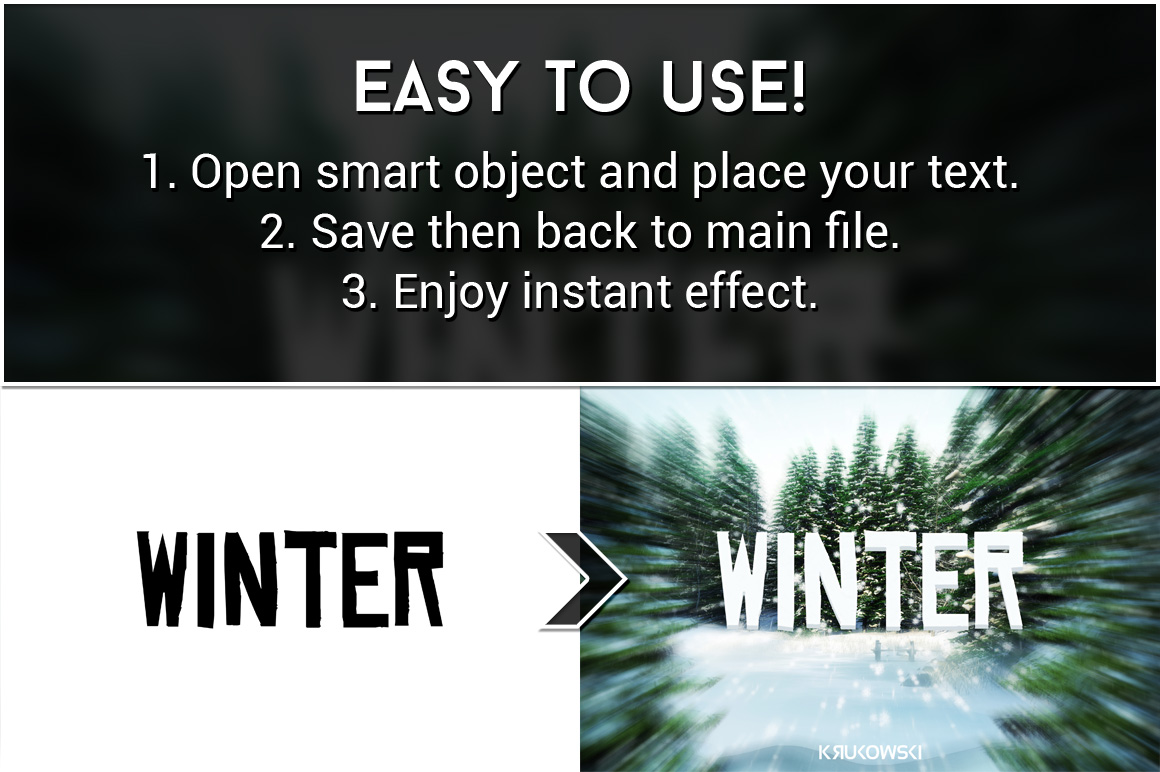 Winter Text Effects Mockup example image 2