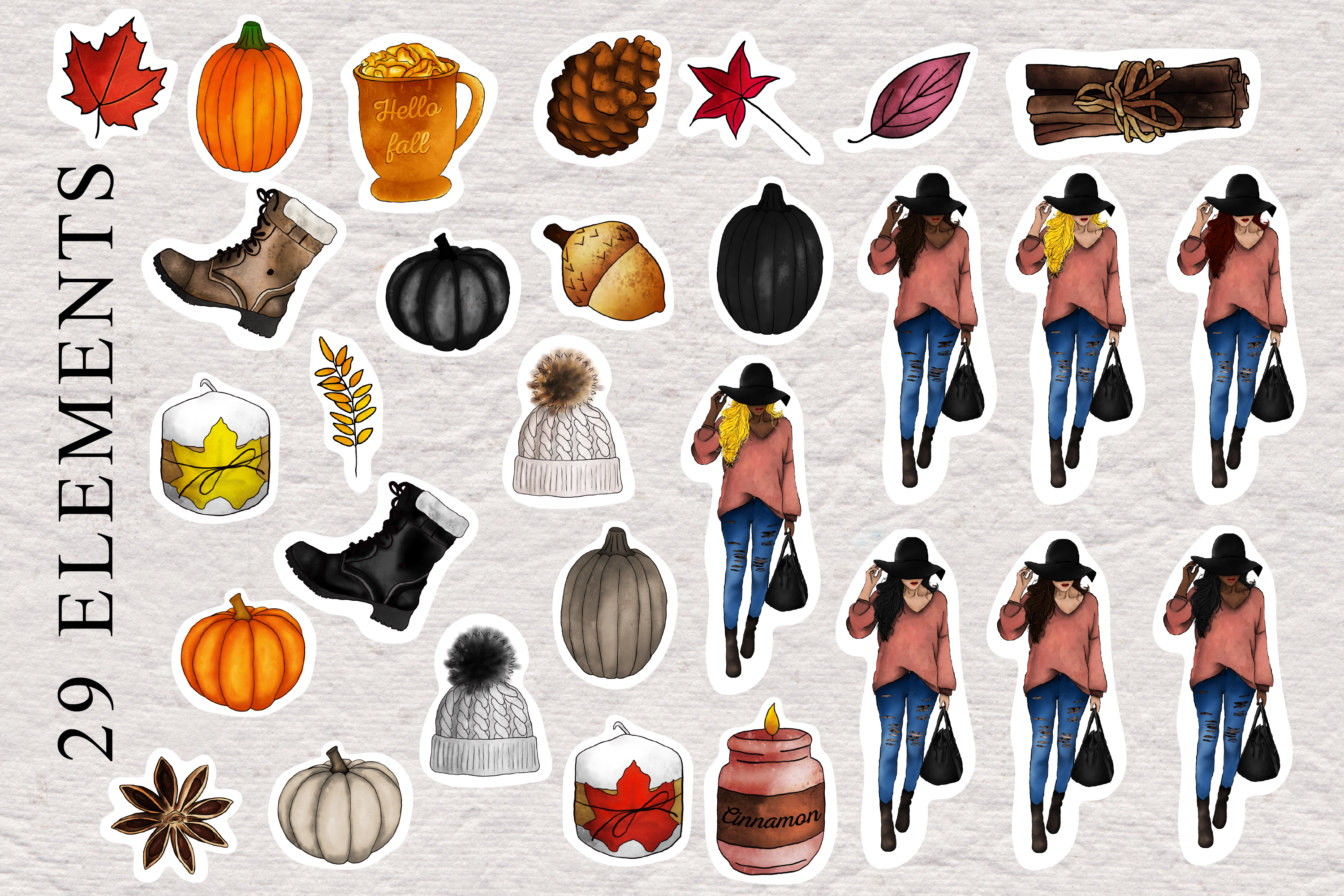 Instagram Story Stickers - Hello Fall Collection example image 2