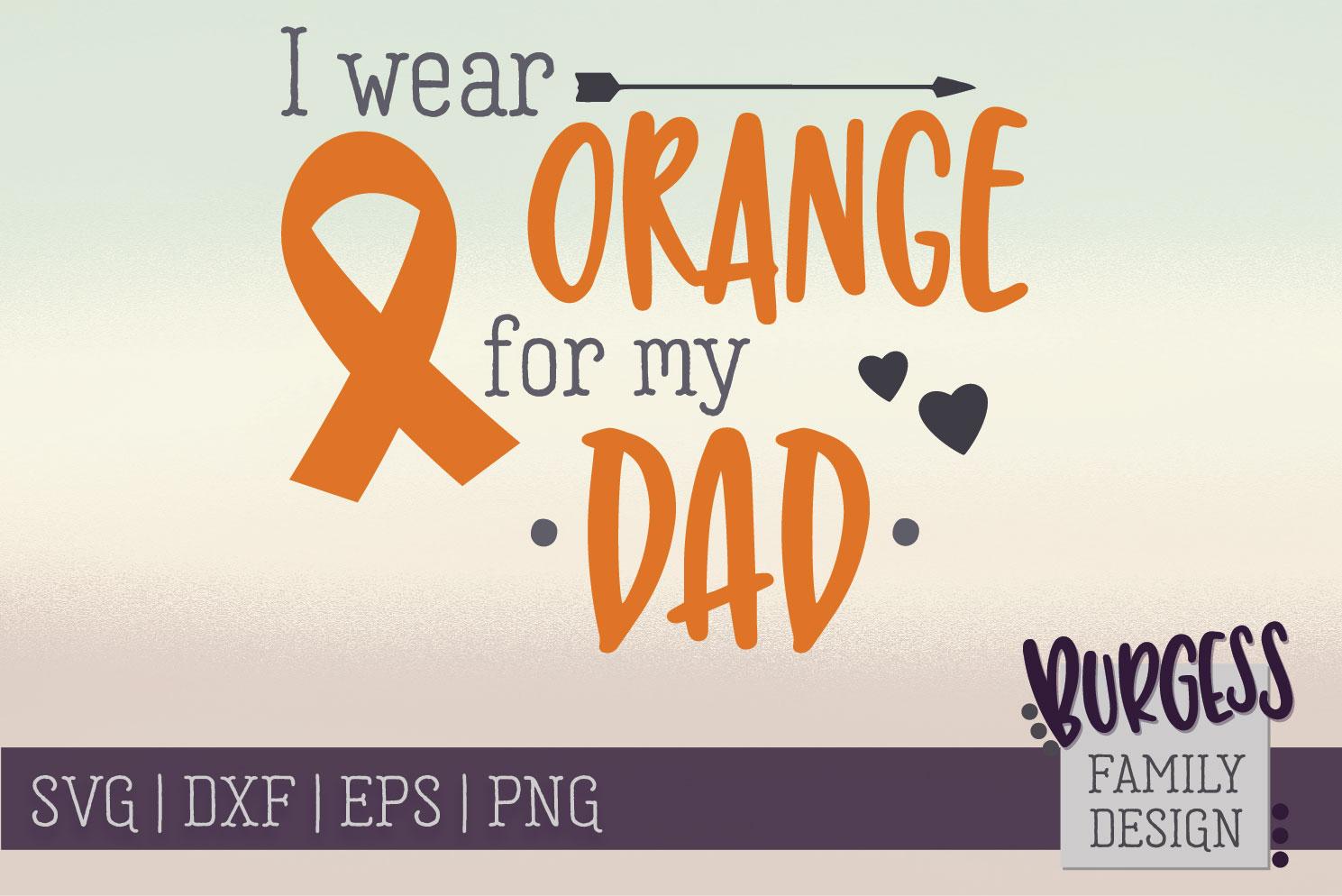 BUNDLE | I wear orange for my family | SVG DXF EPS PN example image 5