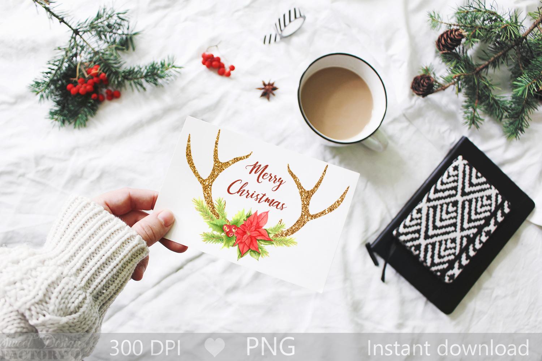 Antlers reindeer clipart example image 2