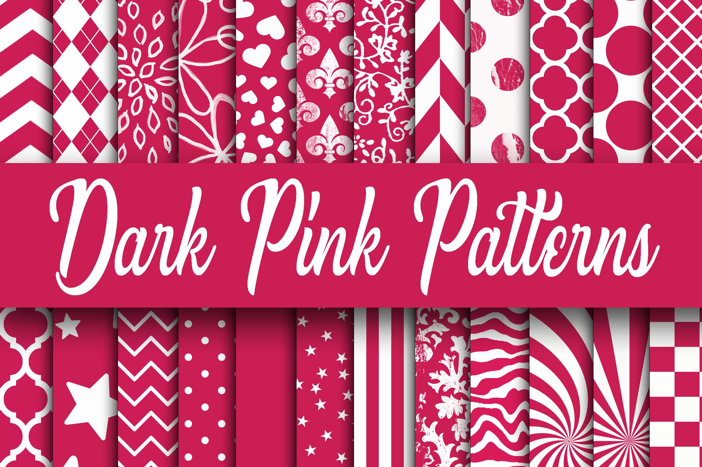 Dark Pink Patterns Digital Paper 37248 Backgrounds Design Bundles