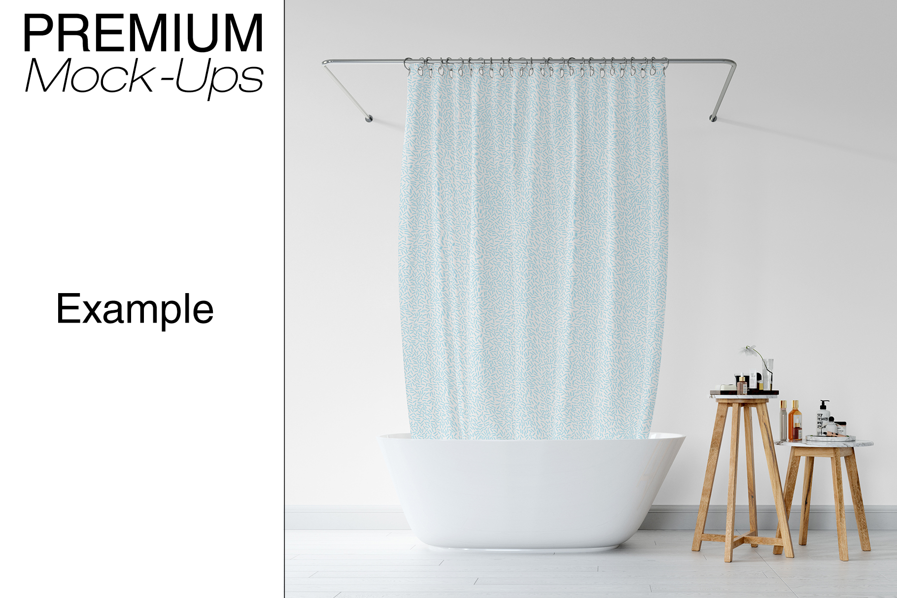 Bath Curtain Mockup Pack example image 8