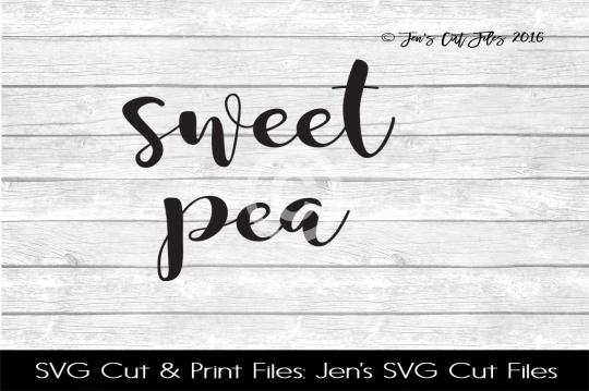 Sweet Pea SVG Cut File example image 1