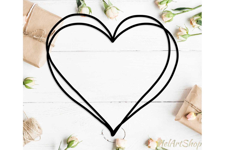 Heart frame svg design example image 1