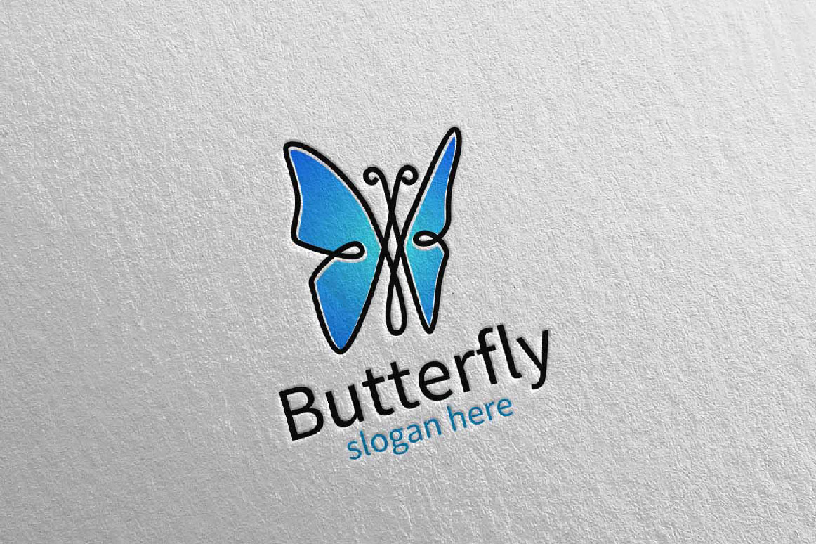 Butterfly Logo vol 16 example image 1