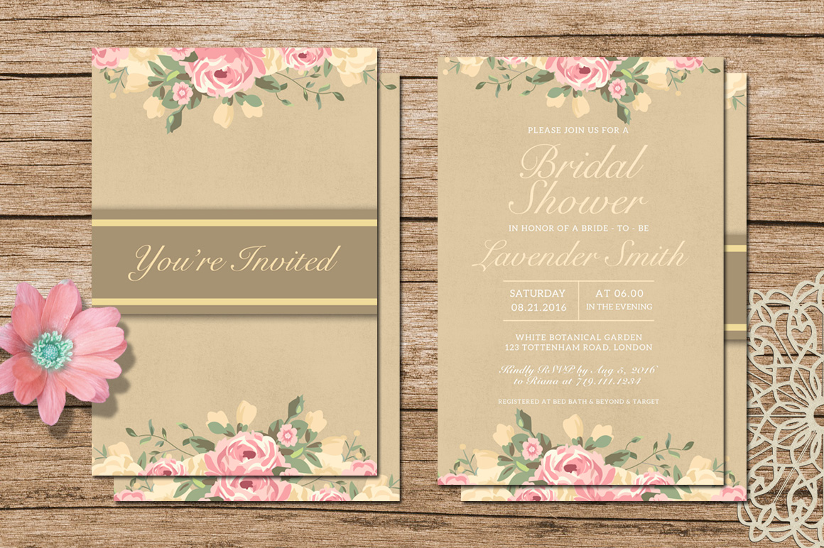 Bridal Shower Invitation example image 3