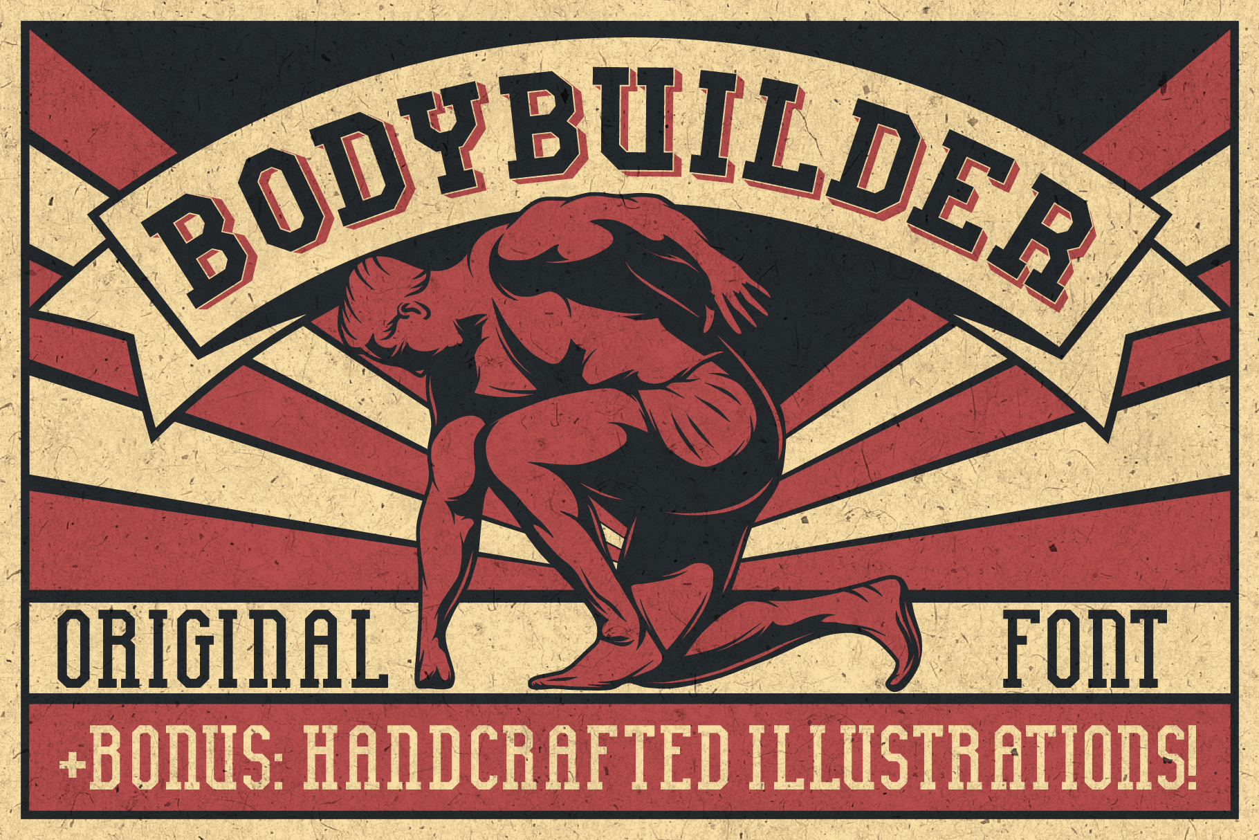 Bodybuilder Layered Font plus Bonus example image 3