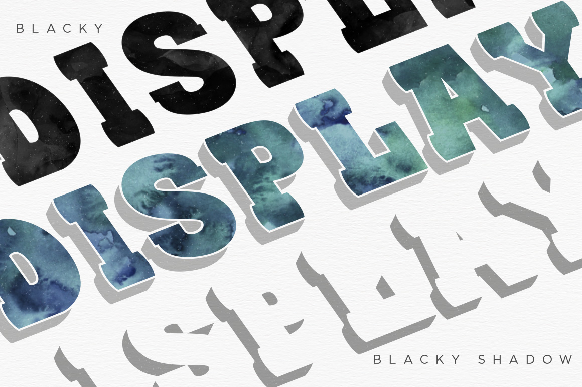 BLACKY Typeface example image 4