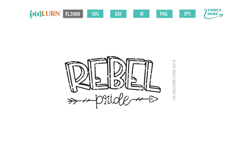 Rebel Pride Team SVG Cut File example image 2