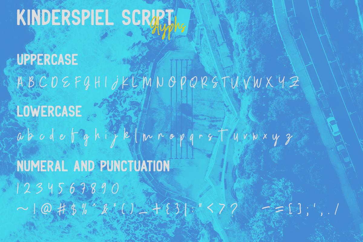 Kinderspiel - Font Duo example image 17