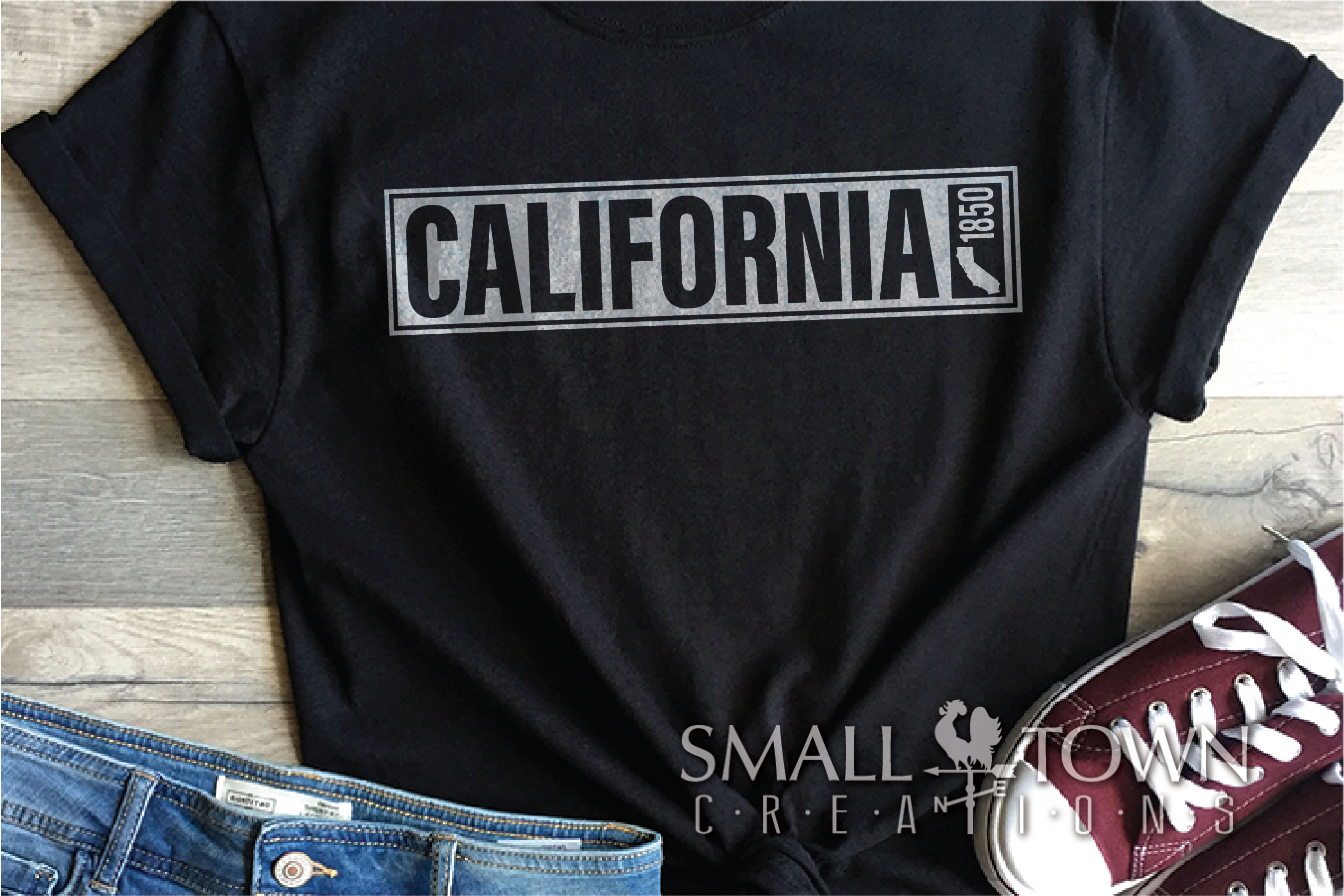 California, The Golden State, Logo, PRINT, CUT & DESIGN example image 4