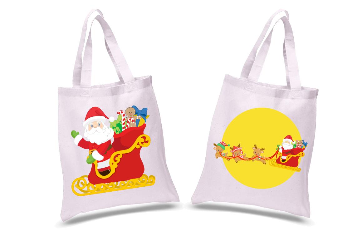 Santa's sleigh clipart, graphics, illustrations AMB-2294 example image 4