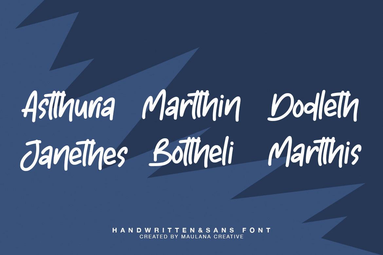 Astherik - Handwritten Free Sans Font example image 8