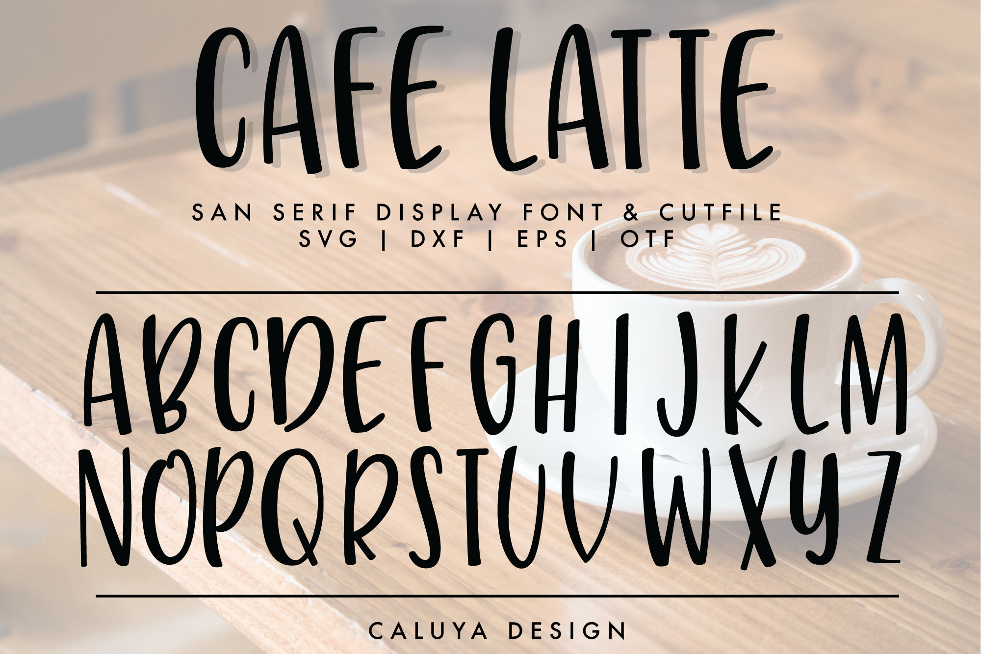Handwritten San Serif Letters Cut File | SVG, DXF, OTF, TTF example image 1