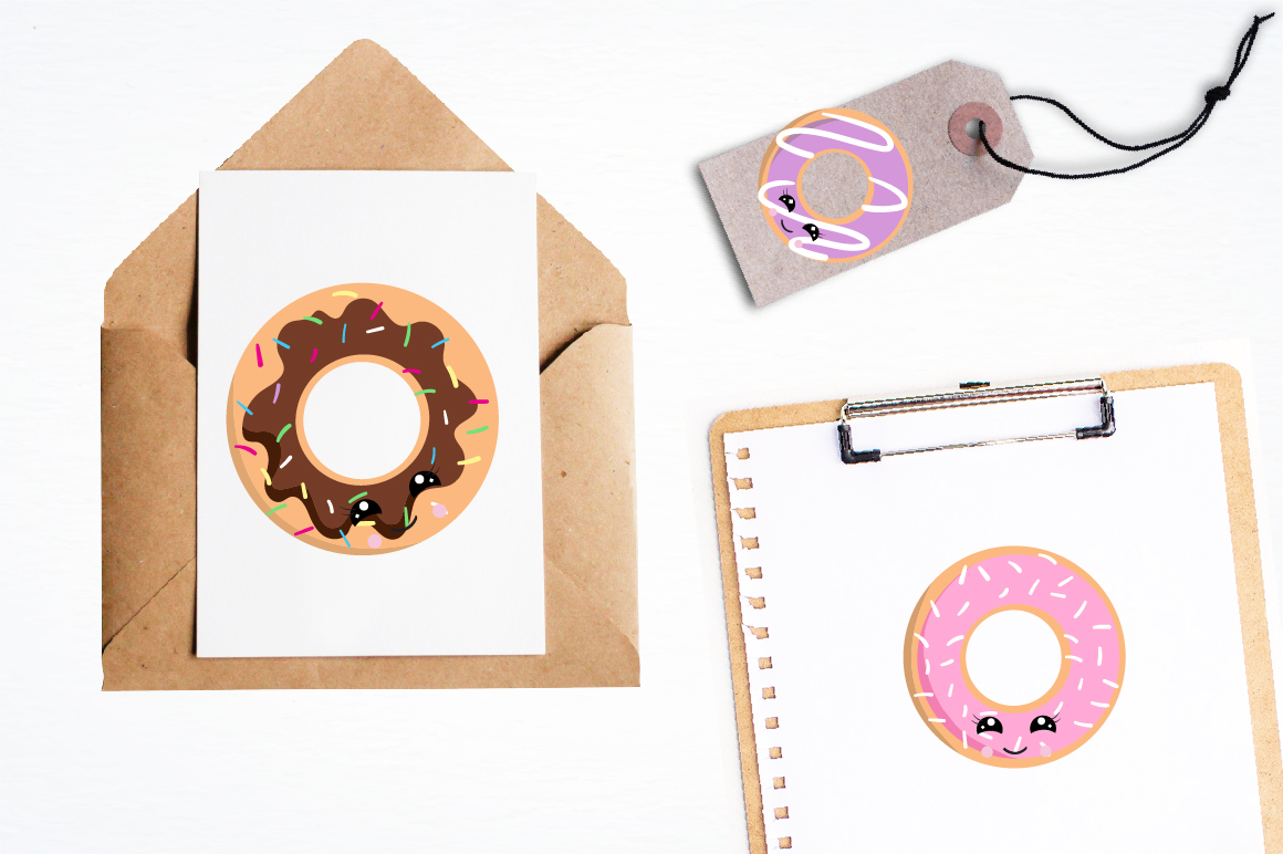 Cutie Donuts graphics and illustrations example image 4