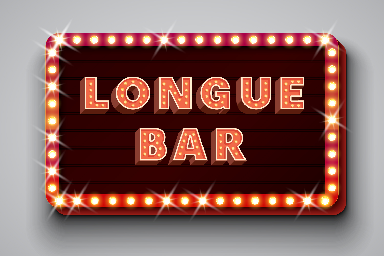 Motel Sign Alphabet Set example image 2