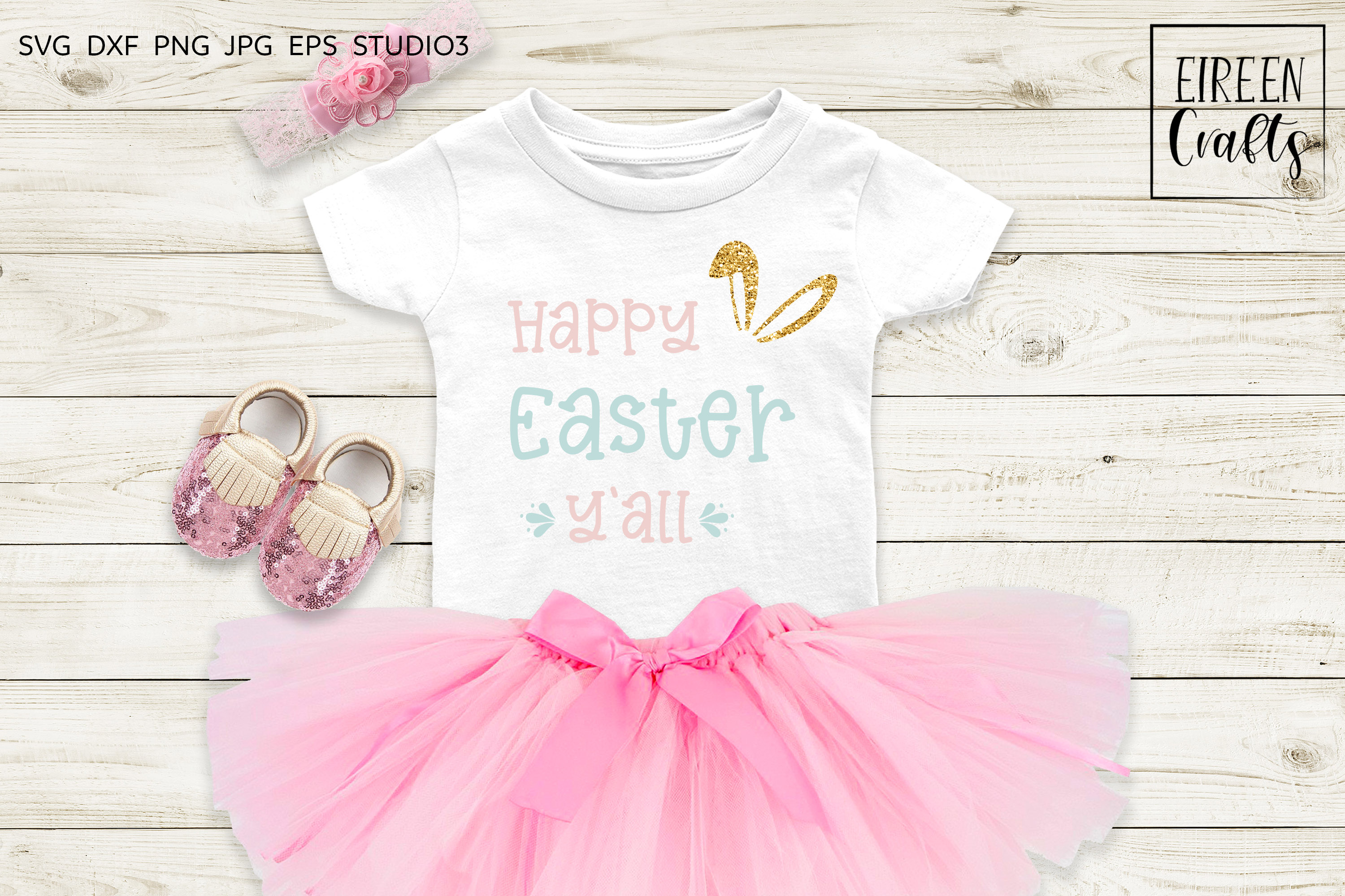 Happy Easter Y'all SVG - cut file for Cricut & Silhouette example image 2