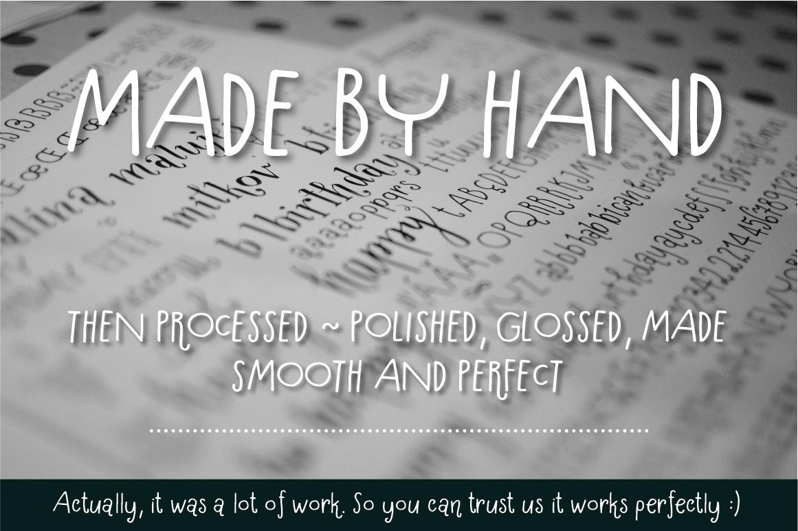 Hallo Hallo - HandDrawn Font Package example image 3
