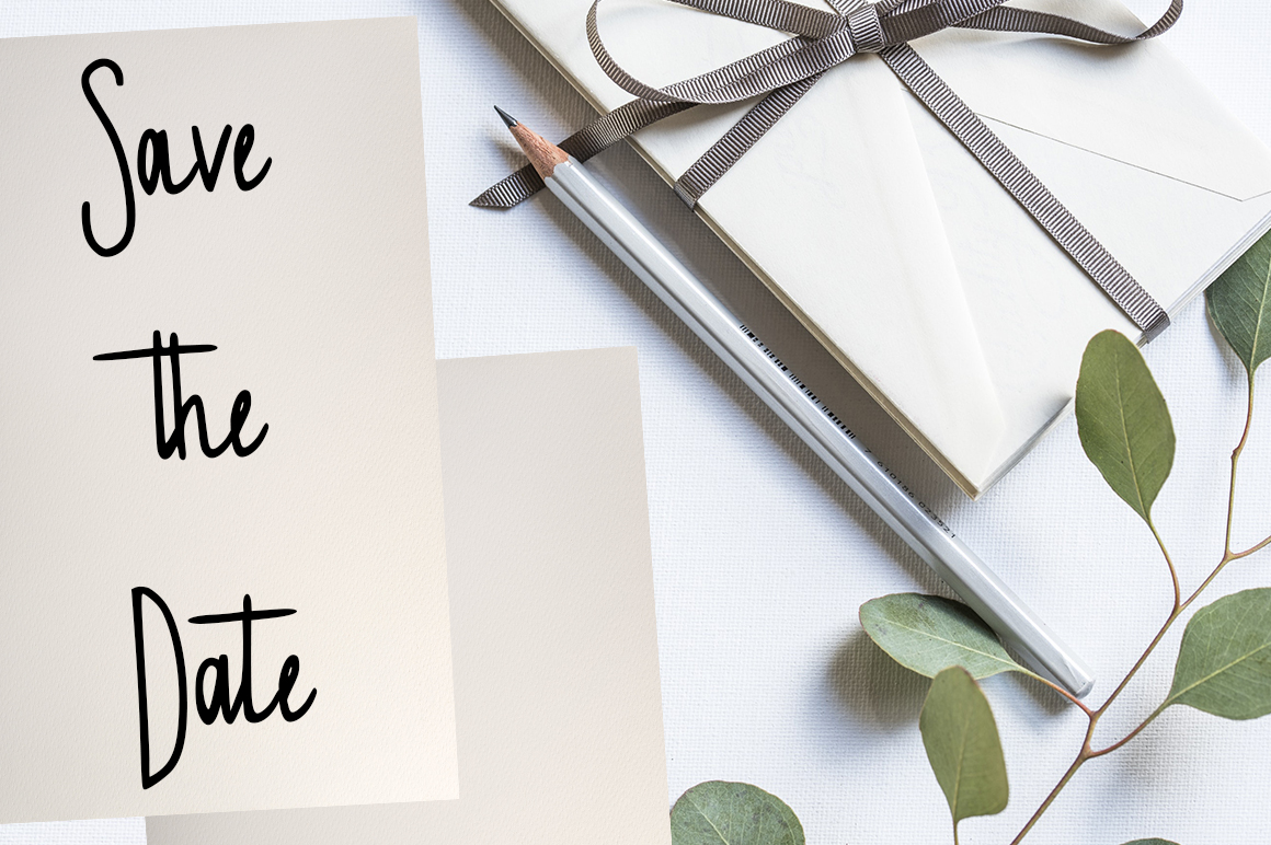 Invitation handwritten font example image 3