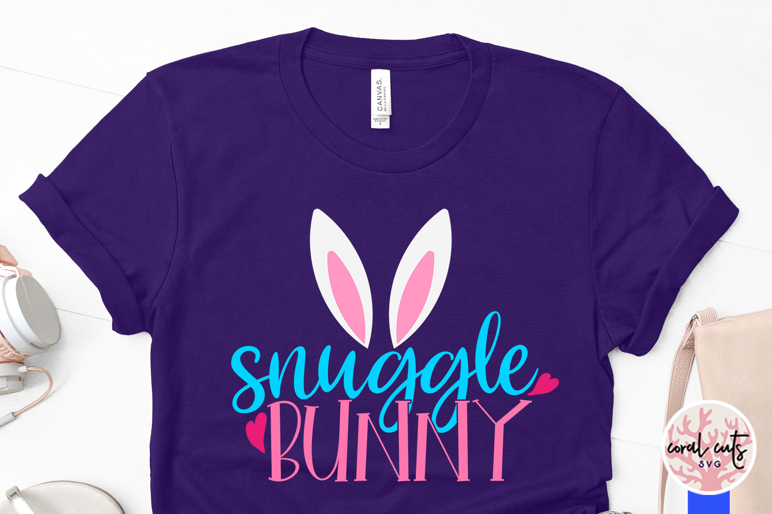 Snuggle bunny - Easter SVG EPS DXF PNG Cutting File example image 3