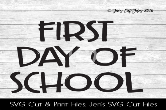 First Day Of School SVG Cut File example image 1