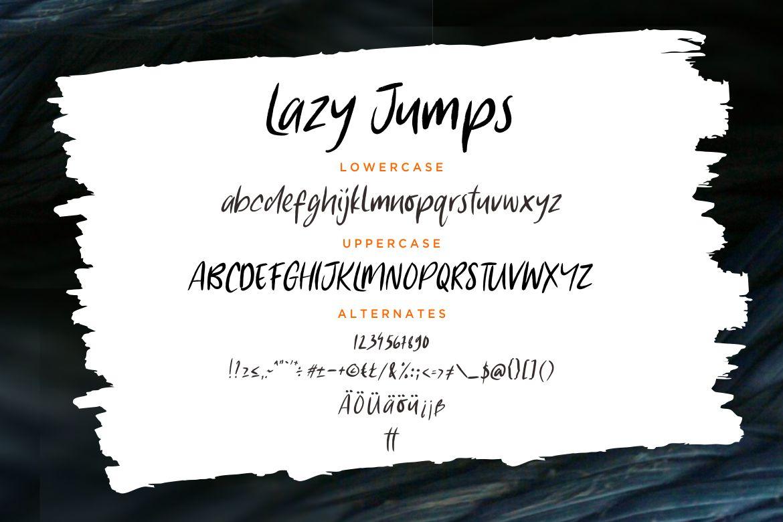 Lazy Jumps Sans Serif example image 7