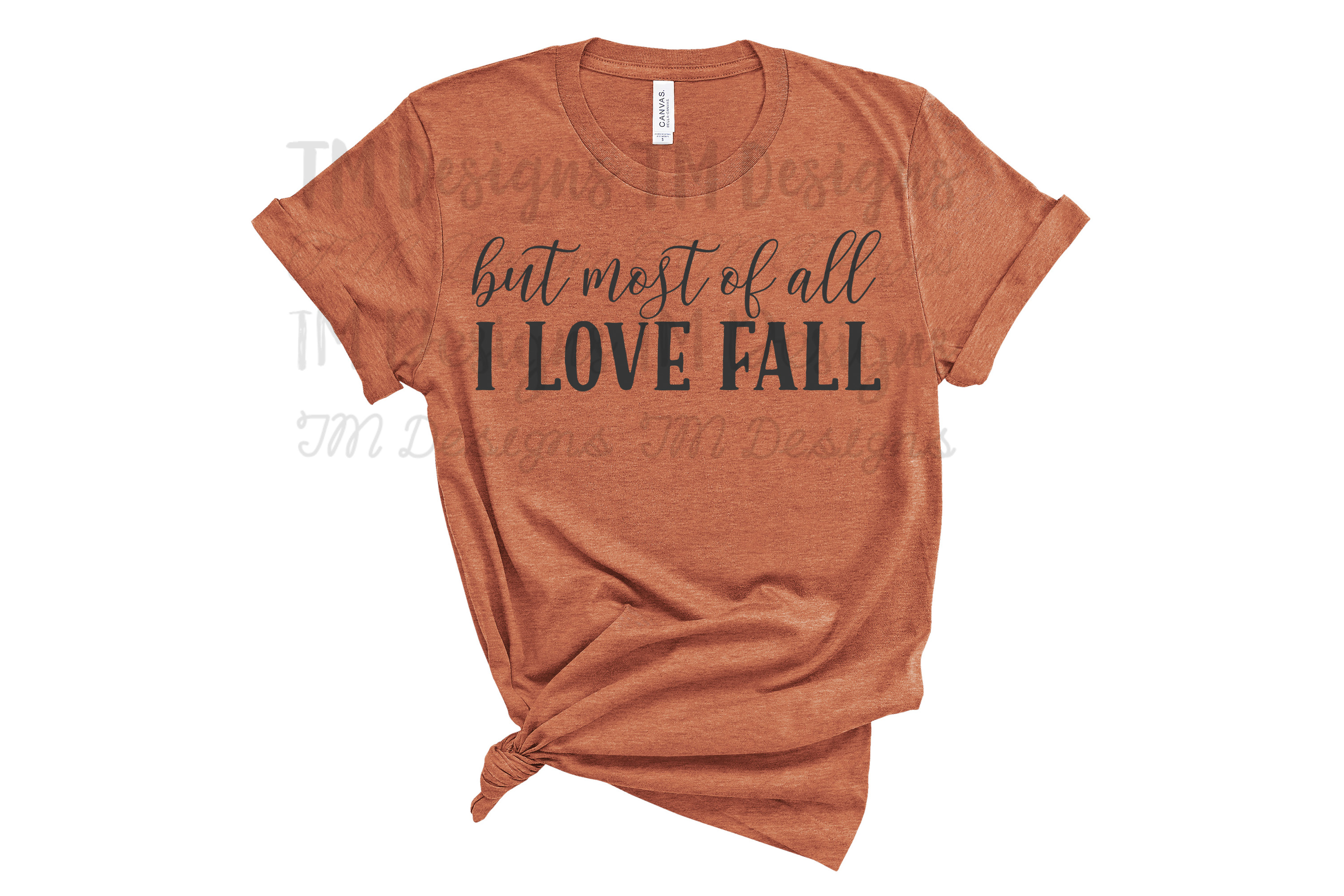 But Most of All I Love Fall SVG example image 2