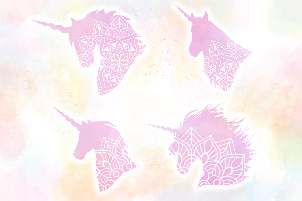 Unicorn Mandala SVG Cut Files Pack example image 4